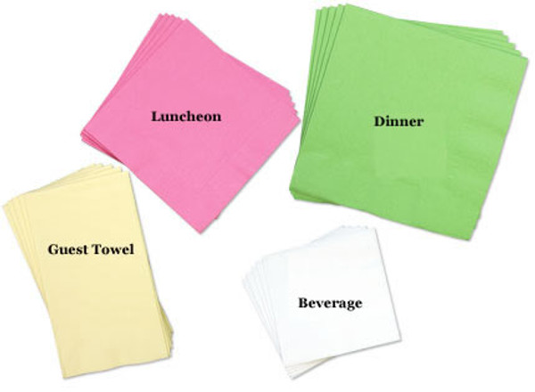 Personalized Solid Color 3-Ply Guest Towel Napkins  www.tinytulip.com