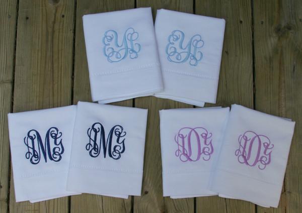 Linen Hemstitch Pillowcase   www.tinytulip.com Interlocking Font