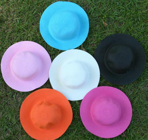 Girls Monogrammed Beach Straw Hat  www.tinytulip.com