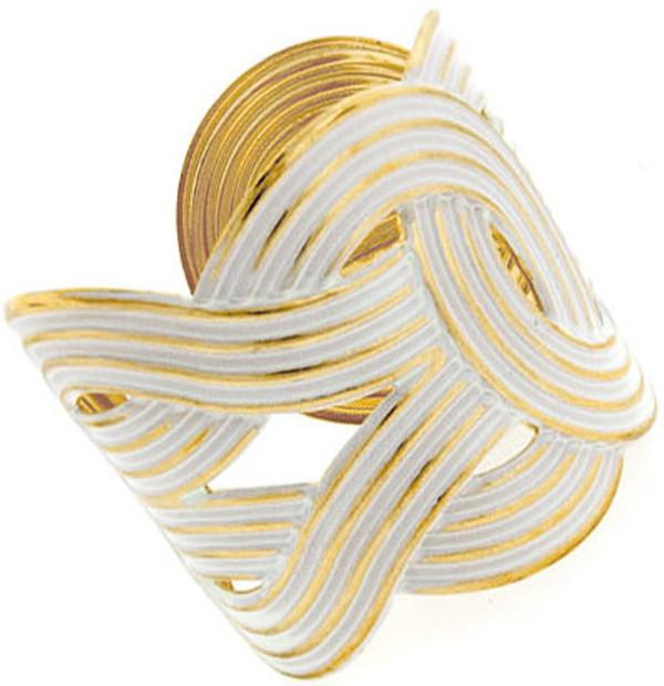 Fashion Gold Woven Cuffs  www.tinytulip.com White Cuff