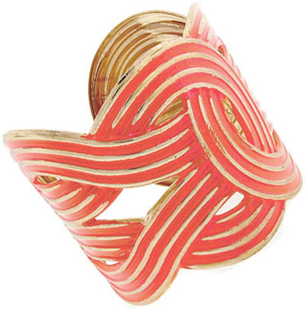 Fashion Gold Woven Cuffs  www.tinytulip.com Coral Cuff