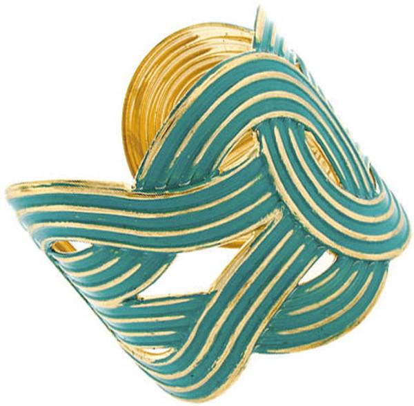 Fashion Gold Woven Cuffs  www.tinytulip.com Teal Cuff