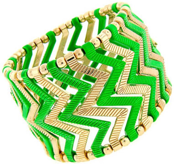 Fashion Stretch Chevron Bracelet www.tinytulip.com Green