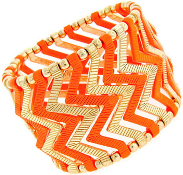 Fashion Stretch Chevron Bracelet www.tinytulip.com Orange