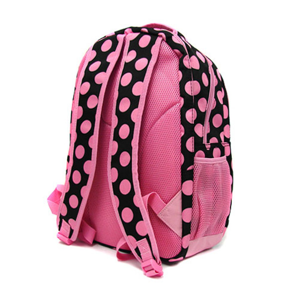Polka Dot Monogrammed Large Computer Backpack   www.tinytulip.com Back View