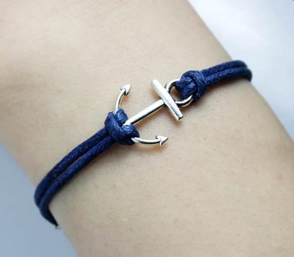 Anchor Bracelet  www.tinytulip.com Navy