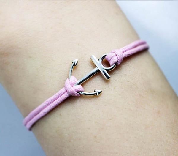 Anchor Bracelet  www.tinytulip.com Pink