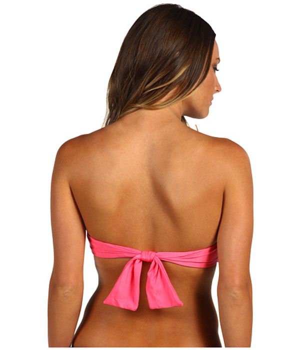 Monogrammed Bandeau Bathing Suit Tube Top www.tinytulip.com