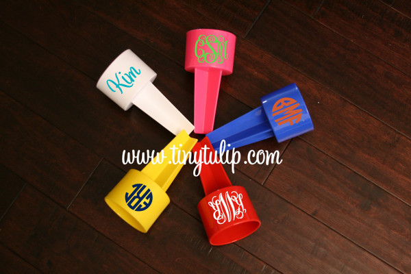 Monogrammed Spiker Beach Beverage Holder  www.tinytulip.com