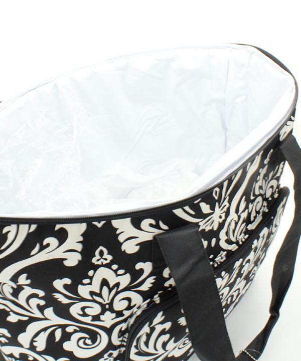 Monogrammed Damask Large Cooler Bag  www.tinytulip.com Inside View