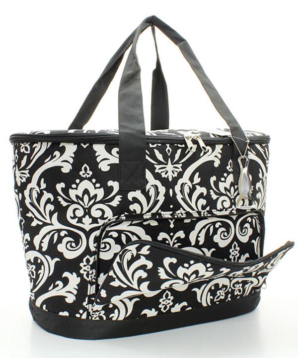 Monogrammed Damask Large Cooler Bag  www.tinytulip.com Pocket