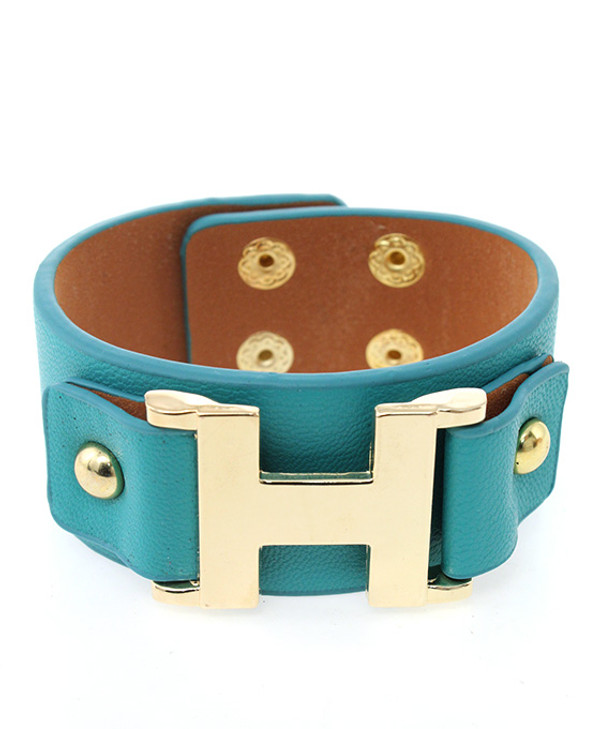 Faux Leather Wrap Bracelet Free Shipping www.tinytulip.com Turquoise