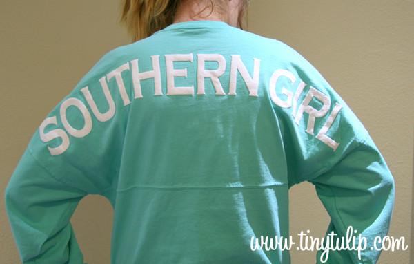 Monogrammed Southern Girl Spirit Football Jerseys www.tinytulip.com