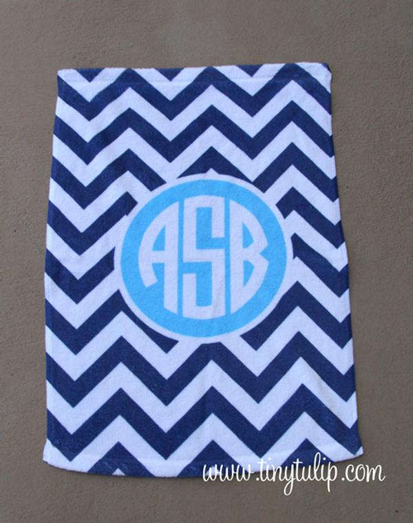 Monogrammed Sports Towel  www.tinytulip.com