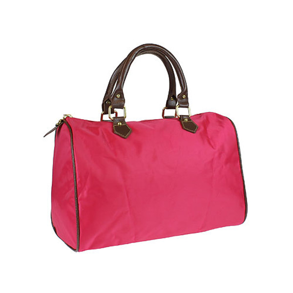 Monogrammed Longchamp Style Satchel Tote www.tinytulip.com Hot Pink