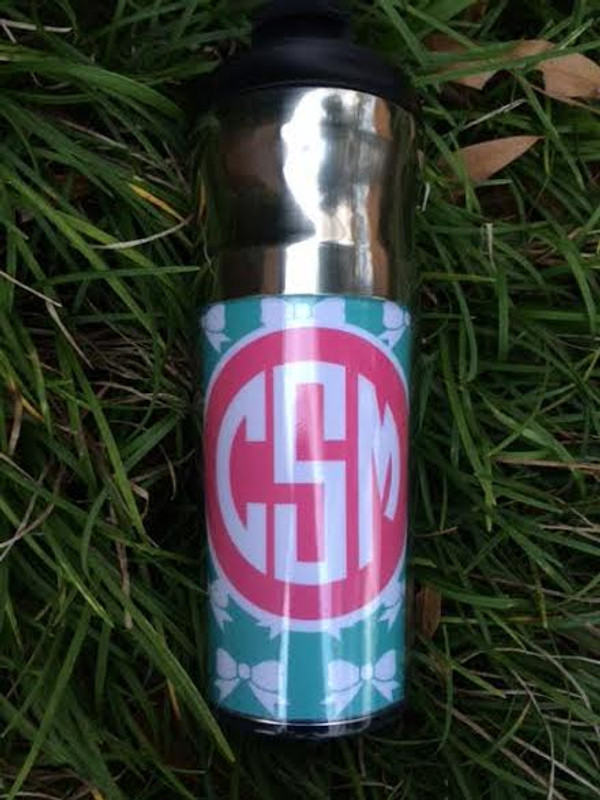 Monogrammed Stainless Steel Thermal Coffee Cup