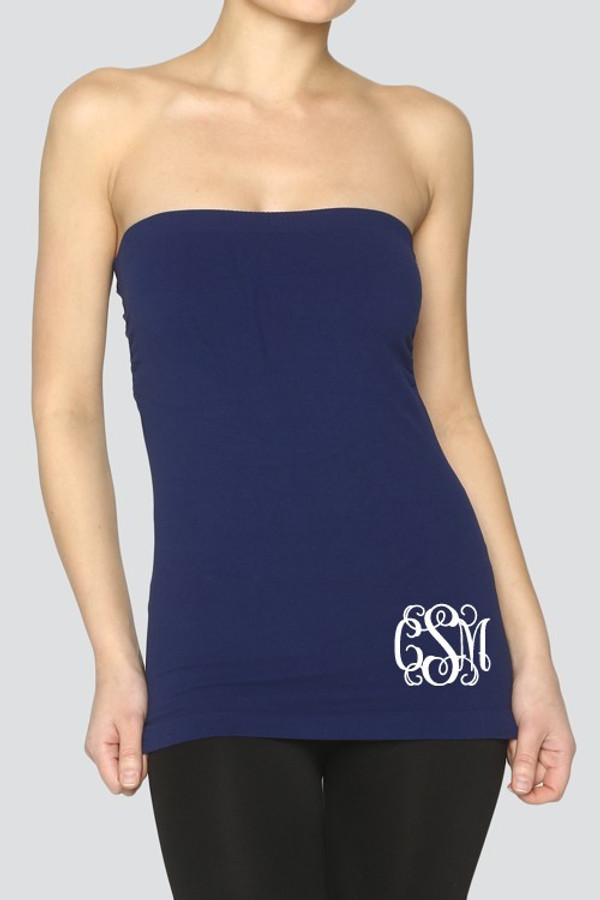 Monogrammed Tube Top Shirt www.tinytulip.com