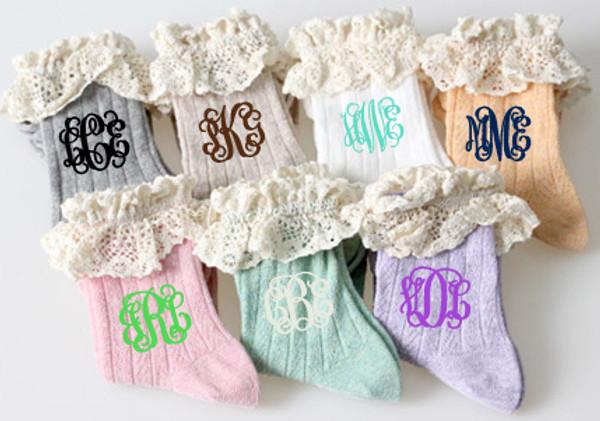 Monogrammed Crochet Socks