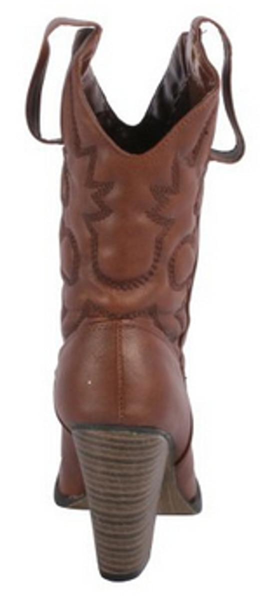 Monogrammed Mid-Calf Cowboy Boots
