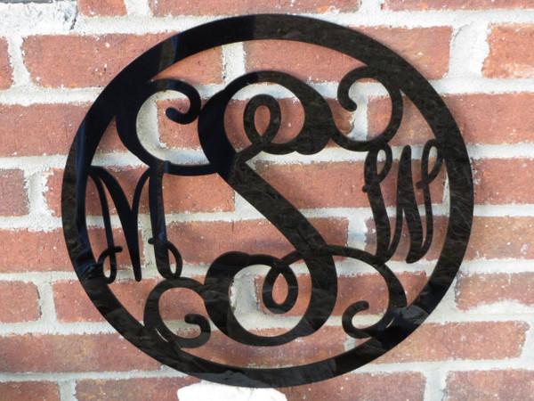 Bordered Acrylic Wall Hanging Monogram www.tinytulip.com