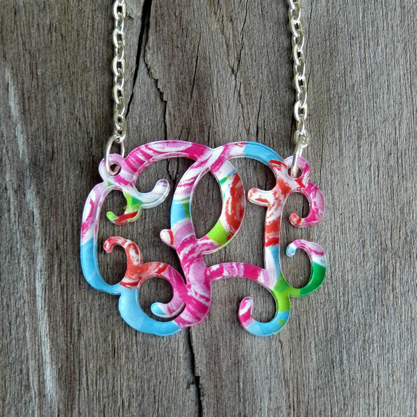 Mary Beth Goodwin Floating Monogram Necklace www.tinytulip.com
