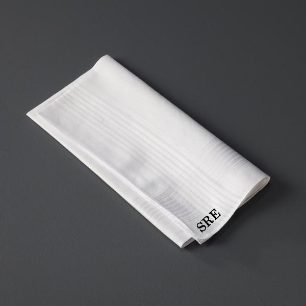 Monogrammed Men's Handkerchief www.tinytulip.com