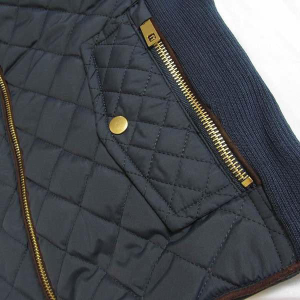Monogrammed Navy Quilted Vest www.tinytulip.com