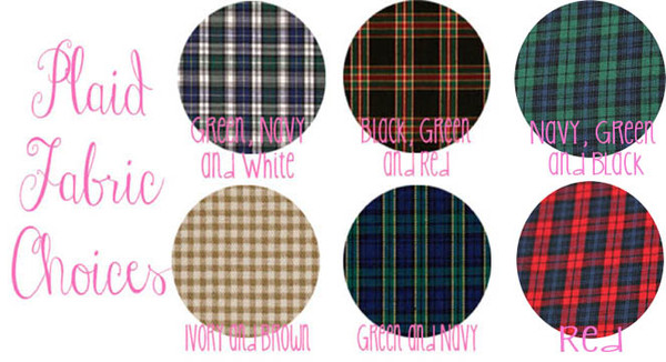 Monogrammed Oxford with Plaid Elbow Patches www,tinytulip.com