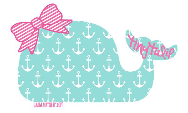 Tiny Tulip Preppy Stickers  Whale www.tinytulip.com