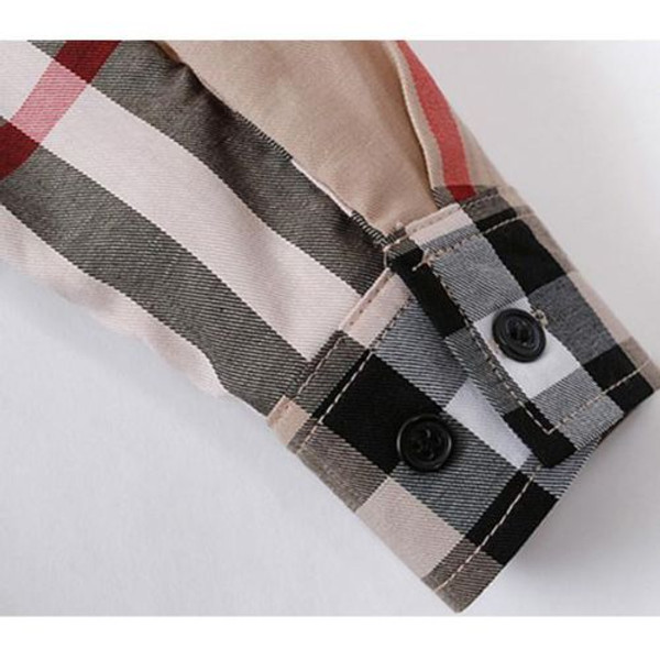 Classic Monogrammed Plaid Shirt www.tinytulip.com