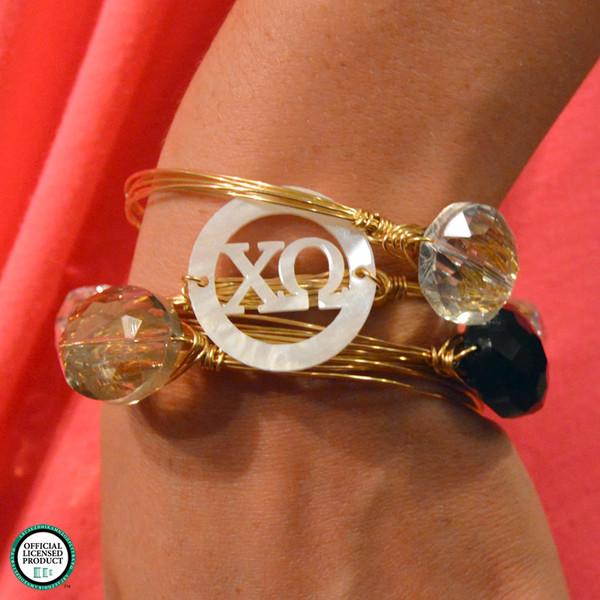 Greek Bangle Bracelet in Gold www.tinytulip.com