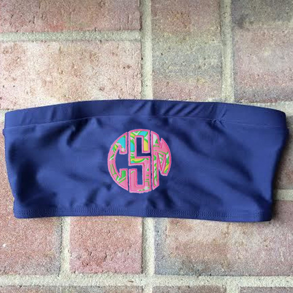 Lilly Pulitzer Monogrammed Tube Bandeau Bathing Suit Top www.tinytulip.com