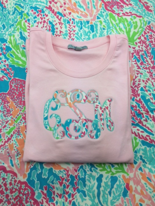Monogrammed Lilly Pulitzer ¾ Sleeve Shirt