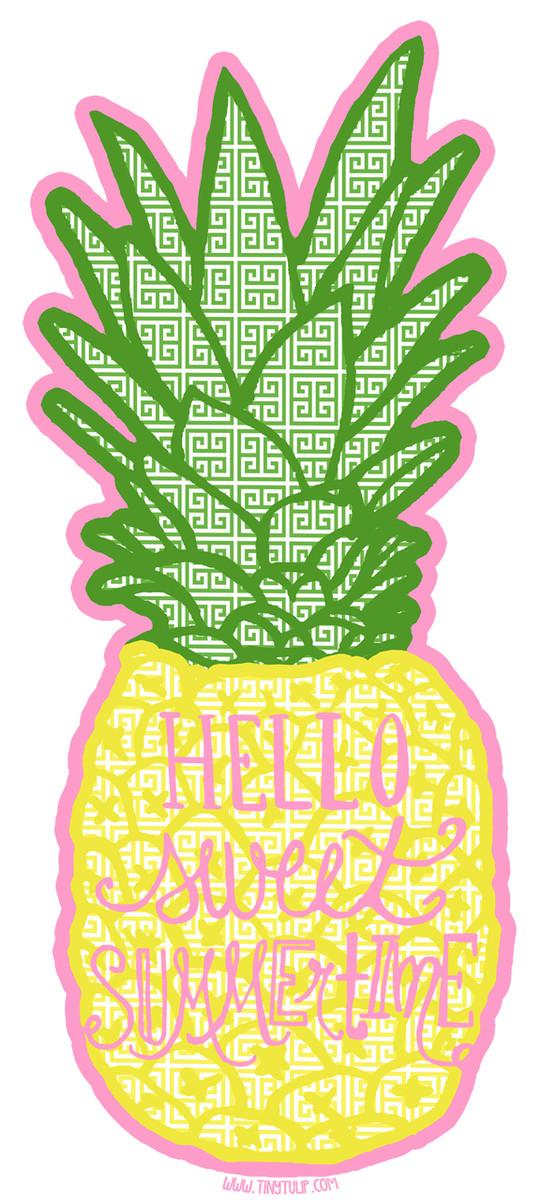 Tiny Tulip Preppy Stickers Pineappple www.tinytulip.com