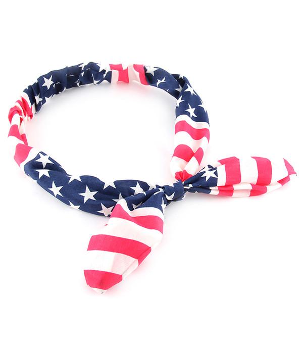 American Flag Headband www.tinytulip.com