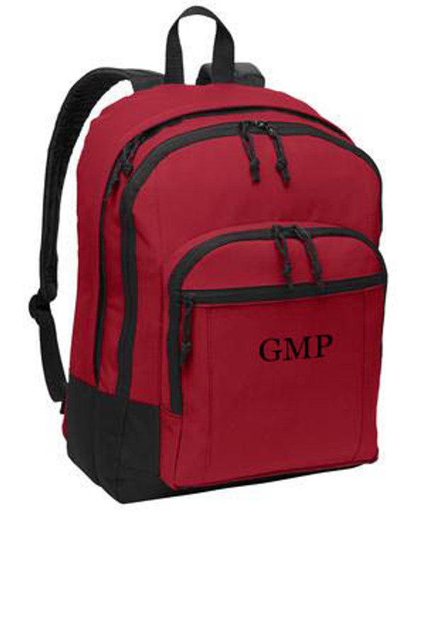 Red Solid Classic Monogrammed Backpack www.tinytulip.com Black Mens Style Monogram