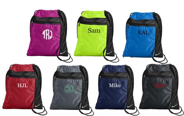 Monogrammed Nike Drawstring Backpack www.tinytulip.com