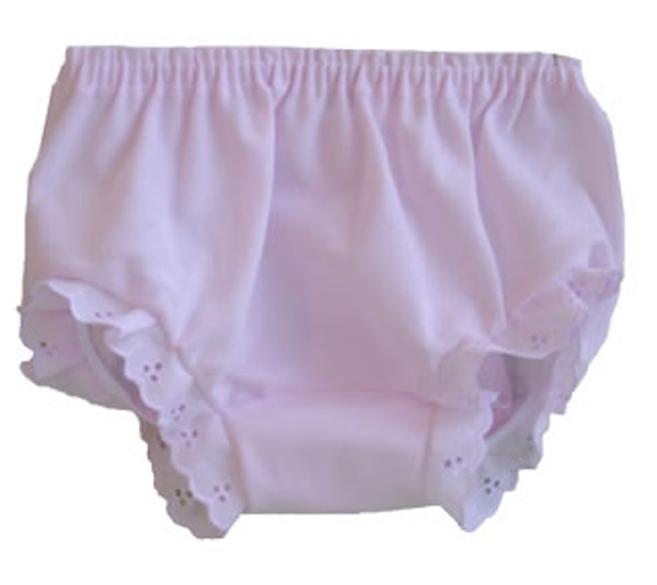 Front View of Pink Diaper Cover