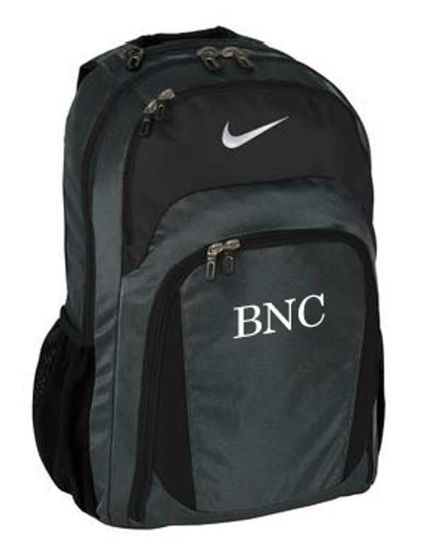 Monogrammed Nike Performance Backpack www.tinytulip.com Mens Style Monogram with White Font