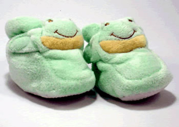 Cashmere-Soft - Green Froggy Booties