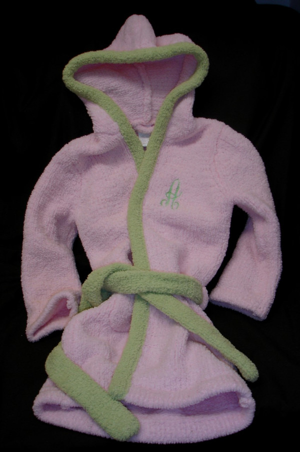 Kashwere Pink & Green Robe
