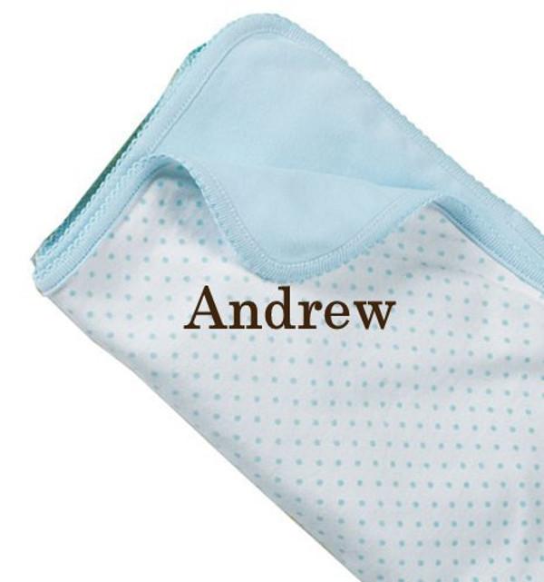 Polka Dot Reversible Baby Blanket
