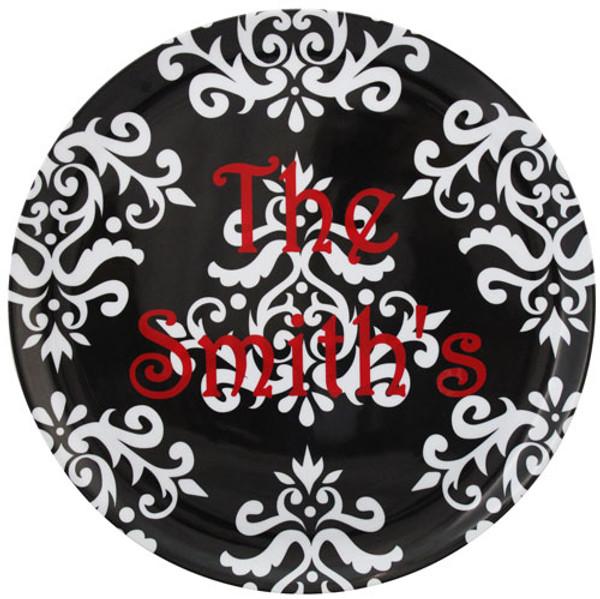 Black Damask Hostess Platter - tinytulip.com