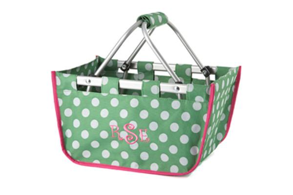 Polka Dot Mini Market Tote Basket    14250   $21.50