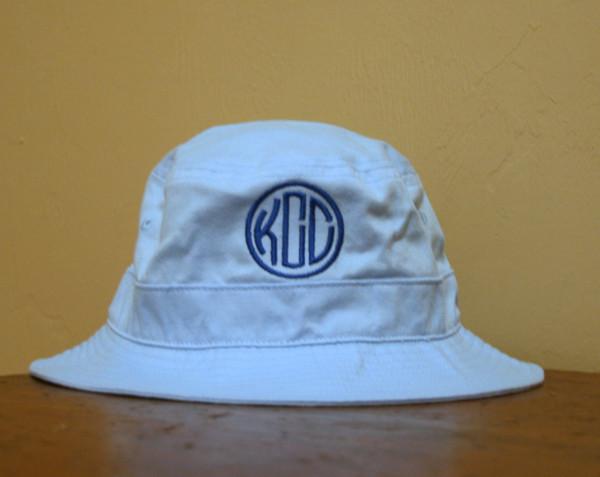 Monogrammed Toddler Bucket Hat - www.tinytulip.com