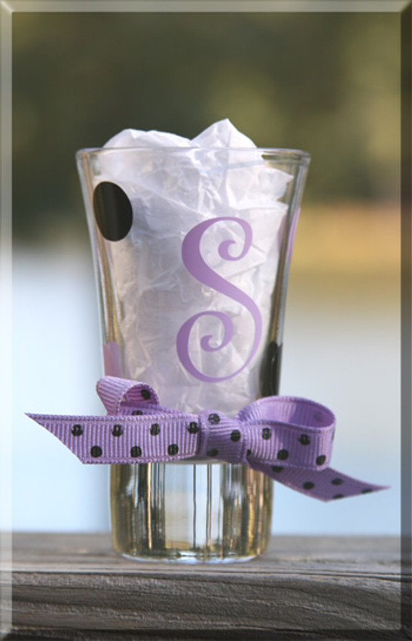 Personalized Polka Dot Shot Glass