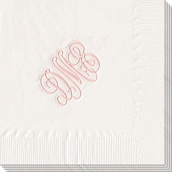www.tinytulip.com - Personalized napkins, wedding, shower, party White with Pearl Rose Antoinette Font