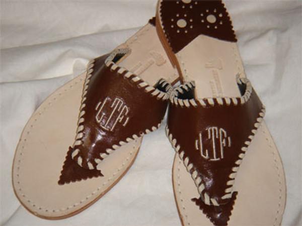 Classic Monogram Leather Palm Beach Sandals