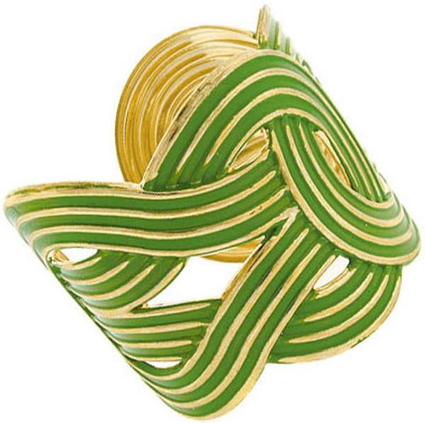 Fashion Gold Woven Cuffs  www.tinytulip.com Green Cuff