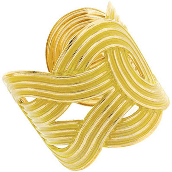 Fashion Gold Woven Cuffs  www.tinytulip.com Yellow Cuff